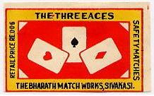 Three aces matchbox cover