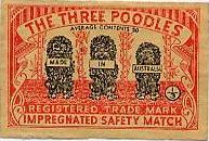 Three poodles matchbox cover