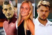 Nick Kyrgios, Donna Vekic and Stan Wawrinka