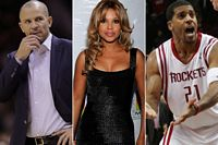 Jason Kidd, Toni Braxton and Jim Jackson