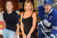 Sean Avery, Elisha Cuthbert and Dion Phaneuf