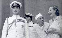 Edwina Mountbatten, Lord Louis Mountbatten and Jawaharla Nehru