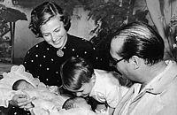 Ingrid Bergman, Roberto Rossellini and Petter Lindstrom