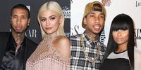 Tyga, Blac Chyna, and Kylie Jenner