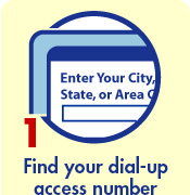 Find your dial-up access number